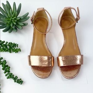 J.Crew Factory Crackle Demi Wedge Rose Gold